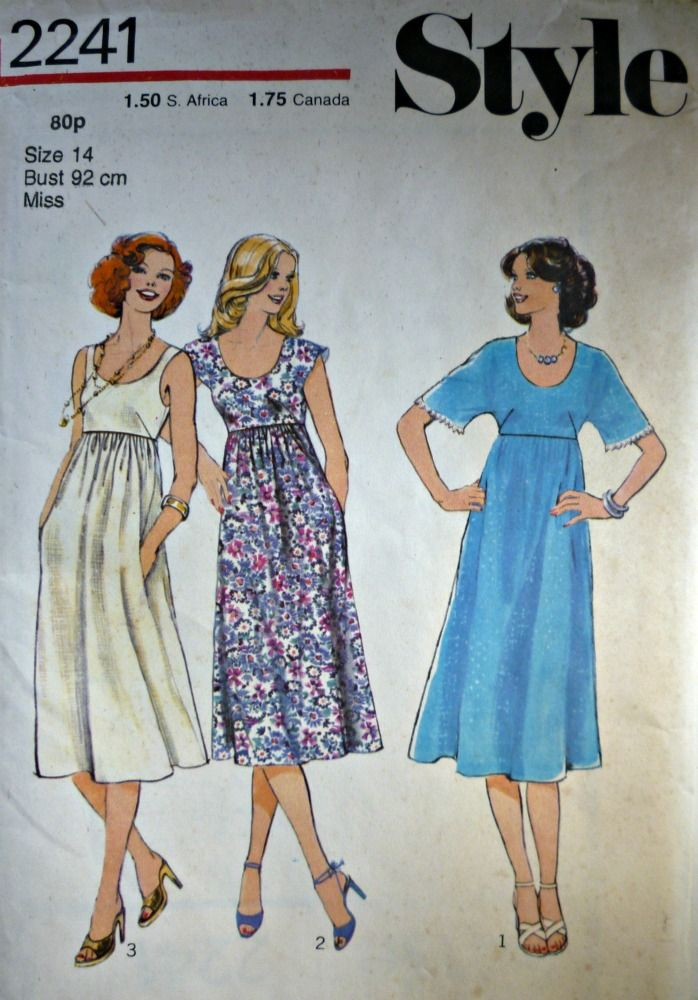 Empire Line Dress Patterns | sewing | Pinterest | Dress patterns and ...
