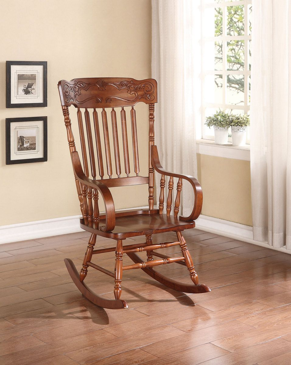 Kloris Rocking Chair in Tobacco Acme Furniture 59210 in