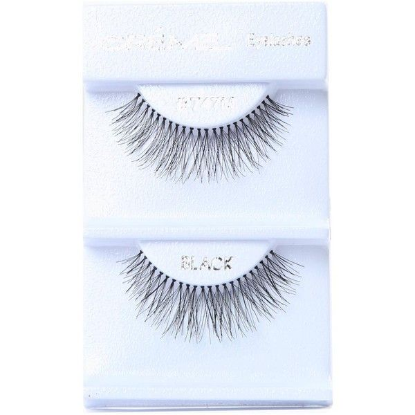 Creme Full & Long Faux Lashes ($2.99) ❤ liked on Polyvore featuring beauty products, makeup, eye makeup, false eyelashes, beauty, fillers, lashes, косметика, no color and long fake eyelashes