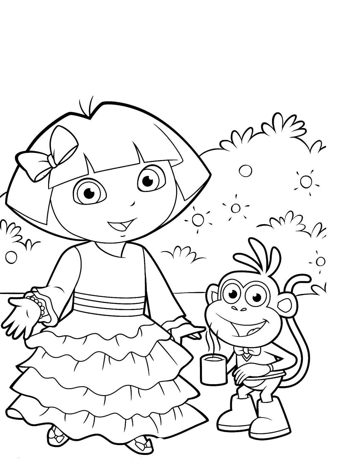 Desenhos Para Colorir Da Dora Aventureira Com Imagens Dora