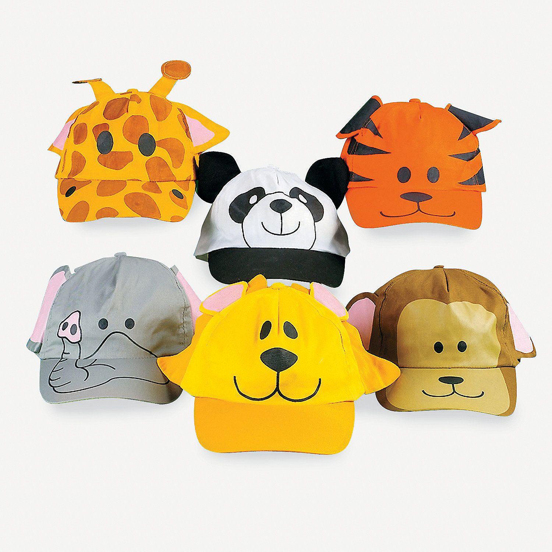 Zoo Animal Baseball Caps - OrientalTrading.com  OrientalTrading   HalloweenWishList 89379b534dbd