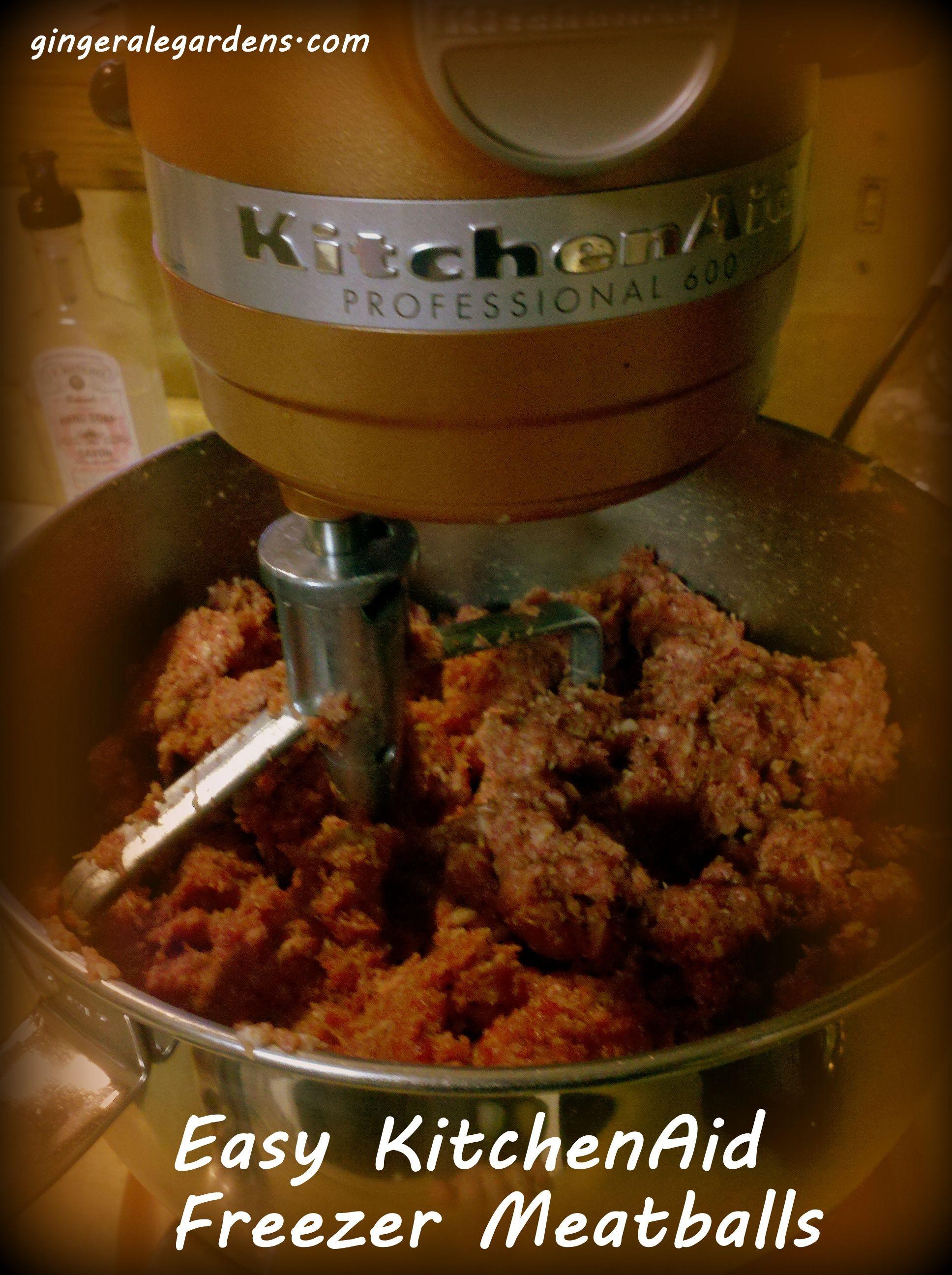 easy freezer meatballs in a kitchenaid mixer kitchen aid k chenmaschine rezepte rezepte und. Black Bedroom Furniture Sets. Home Design Ideas