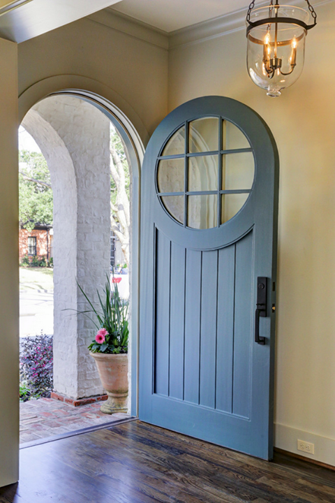 This round top door is the perfect addition to a craftsman home. Would you replace your current front door with one like this? & This round top door is the perfect addition to a craftsman home ...
