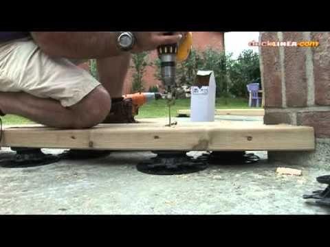 Installation De Terrasse Bois Sur Plots Reglables Youtube