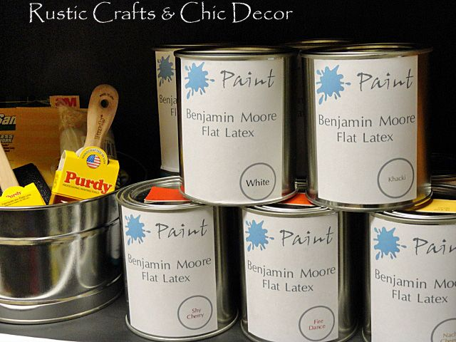 How To Store Leftover Paint Leftover Paint Rustic Crafts Rustic Diy Projects