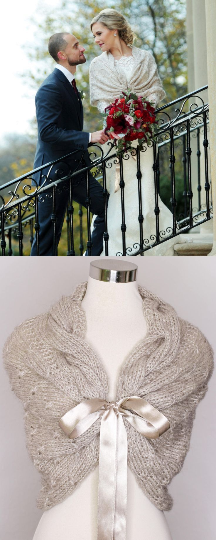 Versatile crochet wedding cover up wrap that can be worn in many