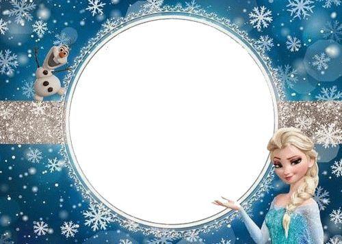 Olaf Y Elsa De Cumpleaños En 2020 Tarjetas De Invitacion