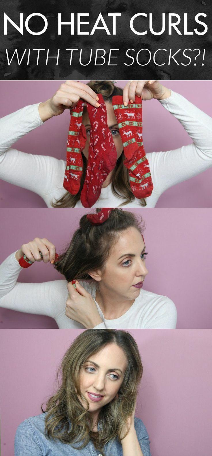 No Heat Curls... With Tube Socks?!