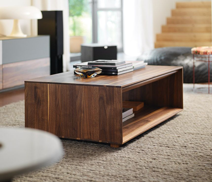Fabulous Lux Coffee Table With Storage Designed By Team7 Small Machost Co Dining Chair Design Ideas Machostcouk