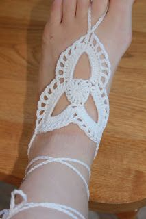 The Hooker A Holic Crochet Tri Loop Barefoot Sandals Free Crochet