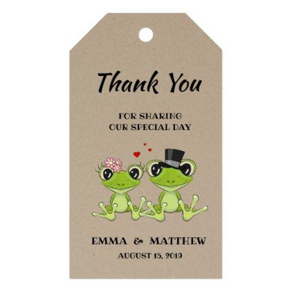 Toadally In Love Frog Wedding Favor Gift Tag Favors Country Weddings And