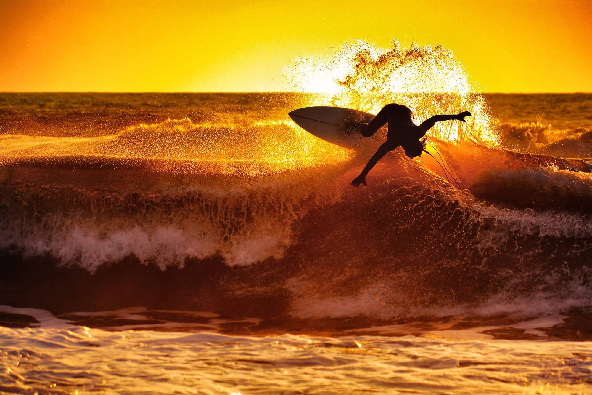 surfing waves sunset wallpaper and background | inspiration