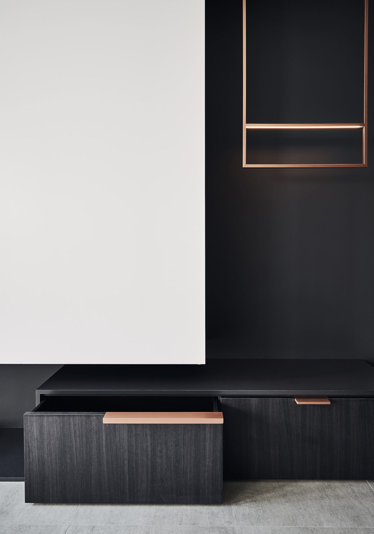 Cutaway Apartment Full Furnitures Modern Design: A Compact Taipei Apartment Full Of Curvy Details