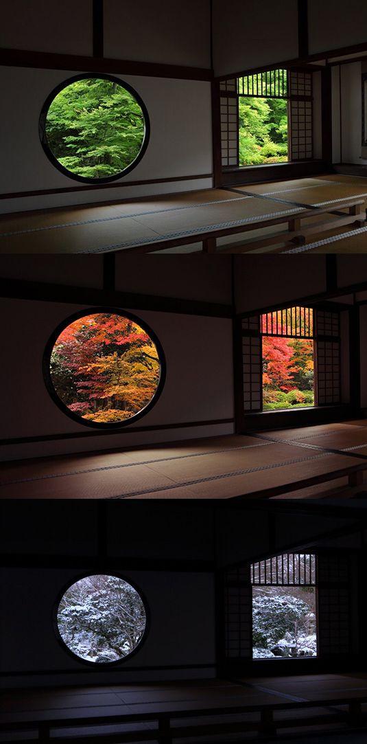 Qu'importe la saison, on aimerait séjourner au Genko-an-Temple. #japangarden