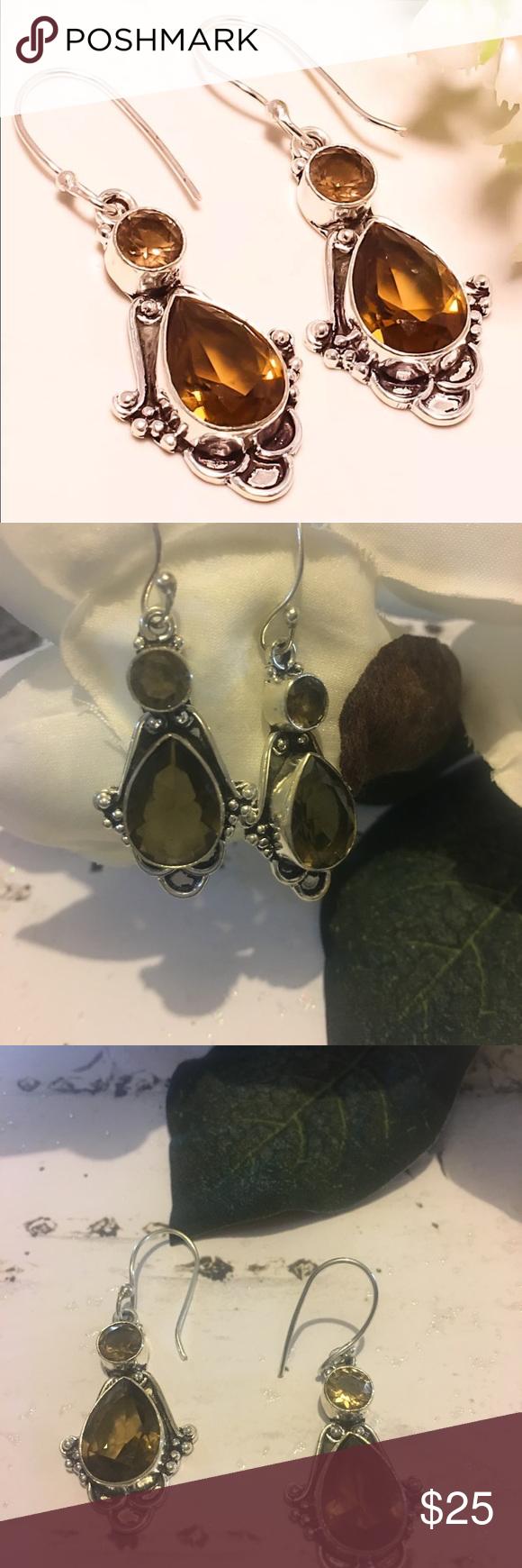 Hpsmoky topaz earrings boutique topaz earrings