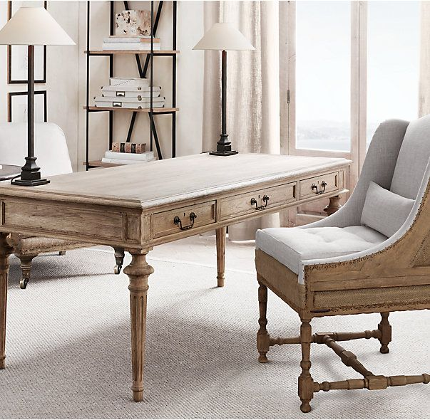 Rh S French Partner Desk Inspired By A 19th Century Antique Our Reproduction Of
