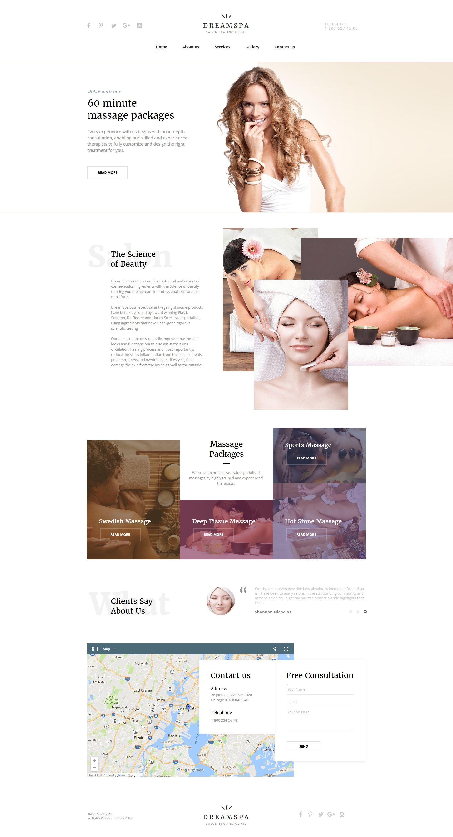 Beauty Salon Moto CMS HTML Template