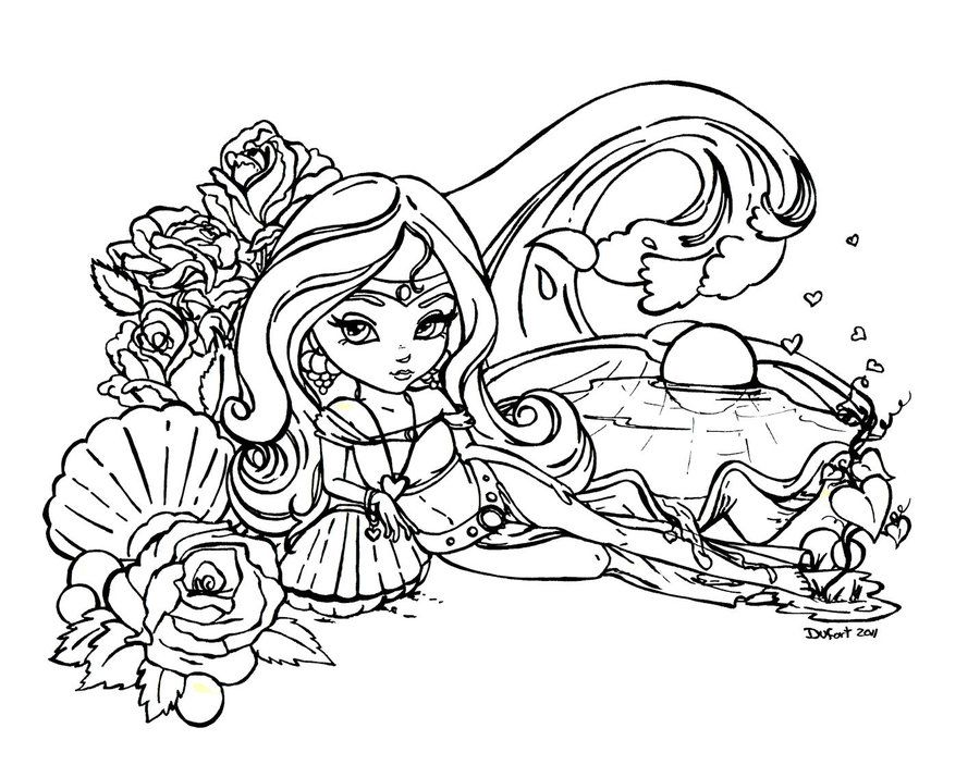 Aphrodite By Jadedragonne On Deviantart Coloring Pages Cute