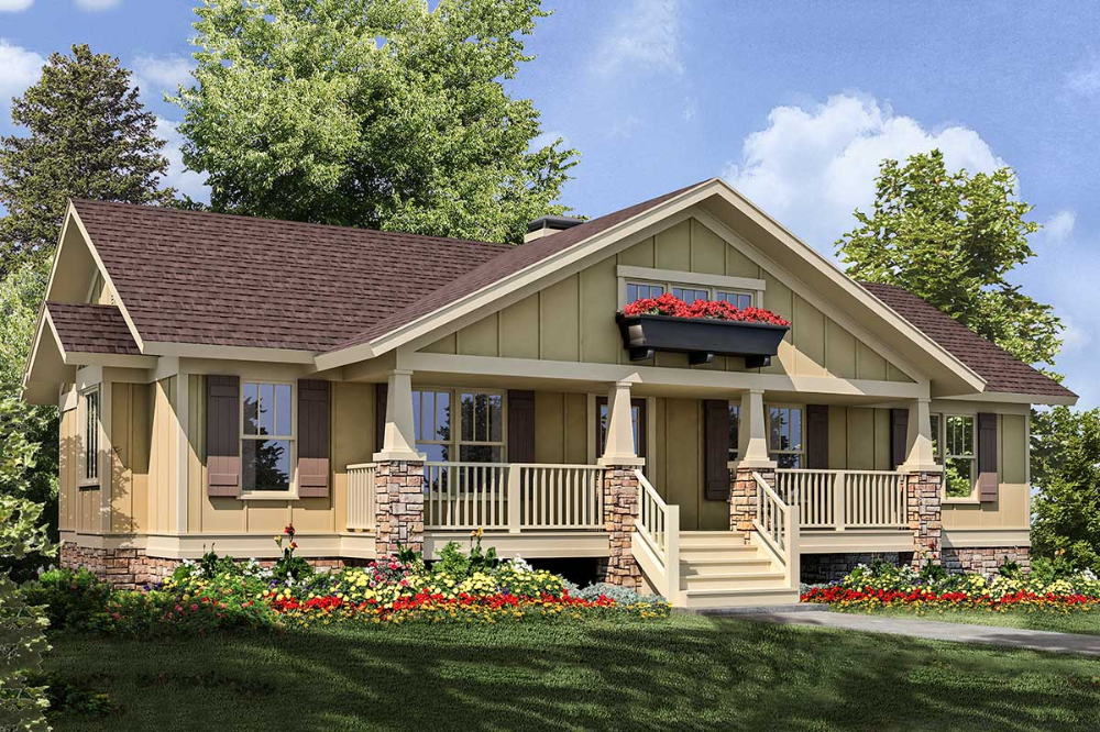 Plan 92068vs 3 Bed Craftsman Ranch With Sundeck In 2020 Ranch House Remodel Craftsman House Plans Cabin House Plans
