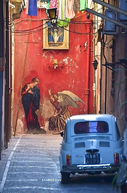 Urban art in Naples, Italy