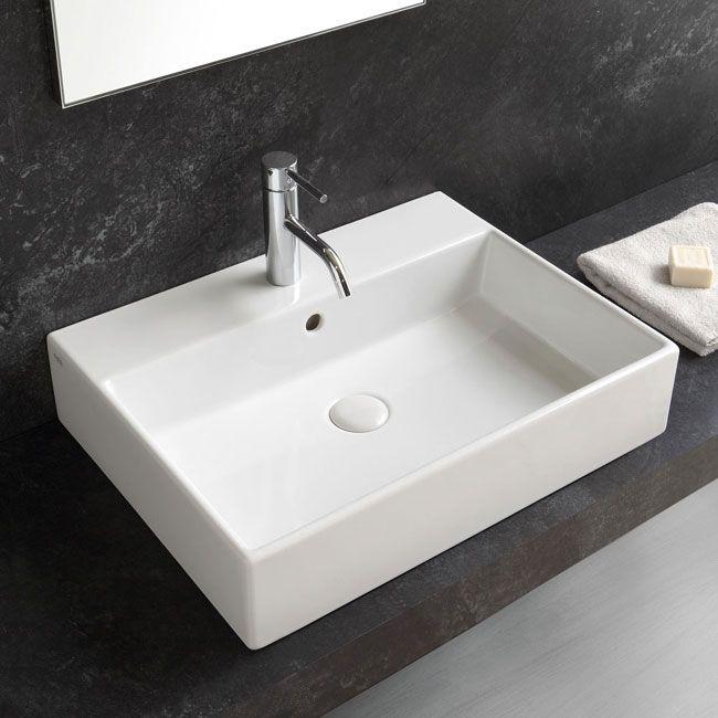 Rectangular 50 Washbasin Smile Smlaa50 Semi Recessed Basin Basin Wash Basin
