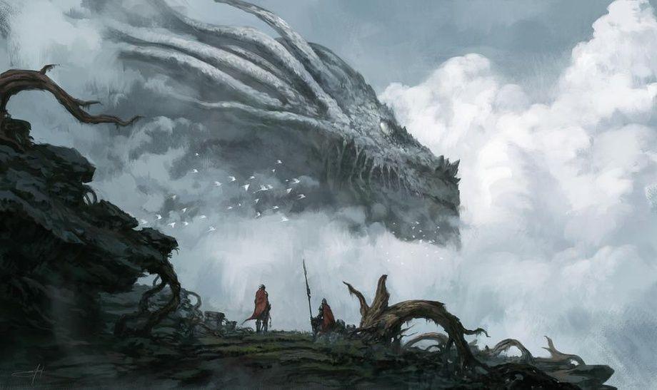 Dragon God, an art print by Jorge Jacinto