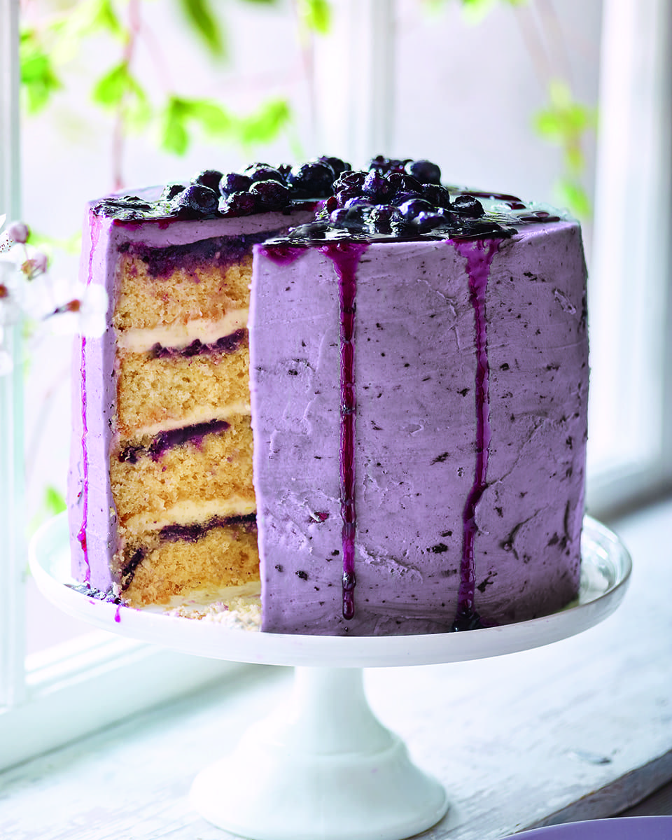 This stunning lemon, blueberry and coconut celebration layer cake by Bake Off finalist Alice Fevronia is a project fora labour-of-love baking session.