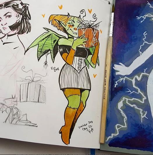 Rin Din Drawingwiffwaffles On Instagram Pinny Kidaaaak