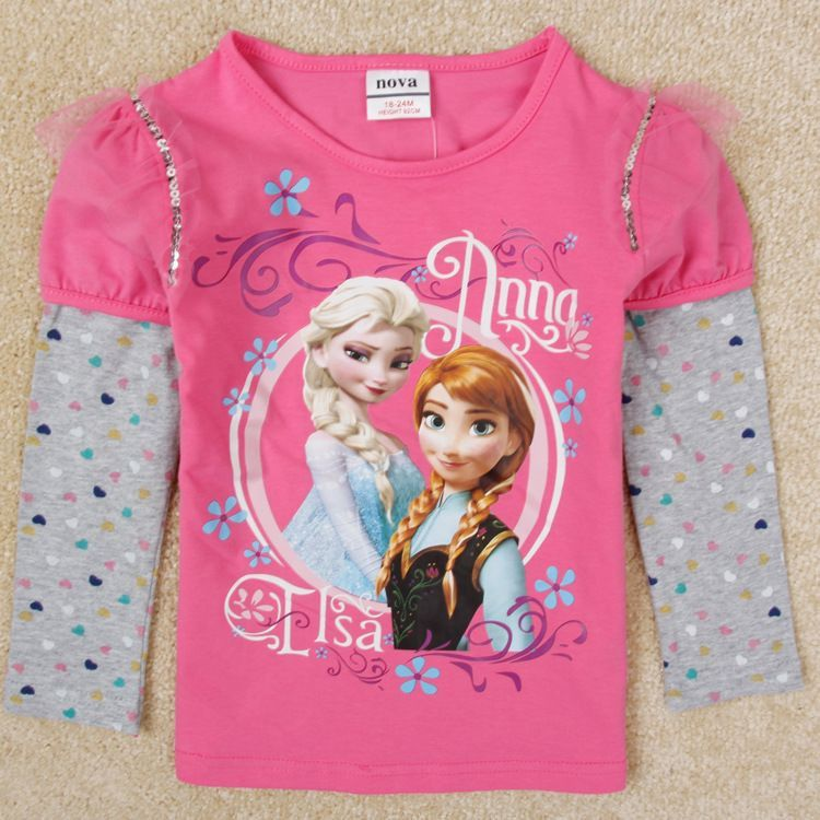 Children S Clothes Baby Girl Top 1 5 6 Years Old Frozen T Shirt For Baby Girls Frozen Top Frozen Long Sleeve Fro Baby Girl Tops Baby Girl Clothes Kids Outfits