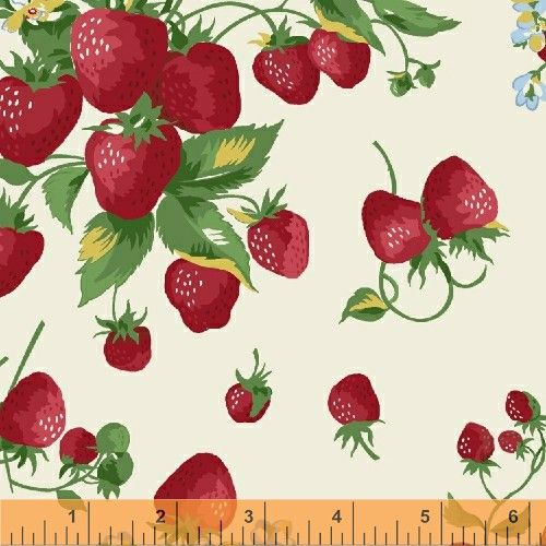 "Vintage Cotton Linen Strawberry Tea Towel Fabric One Or More 36""Long x 17/"" Wide"