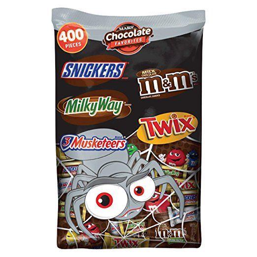 MARS Chocolate Halloween Candy Variety Mix 1263-Ounce 400-Piece Bag - halloween decorations at walmart