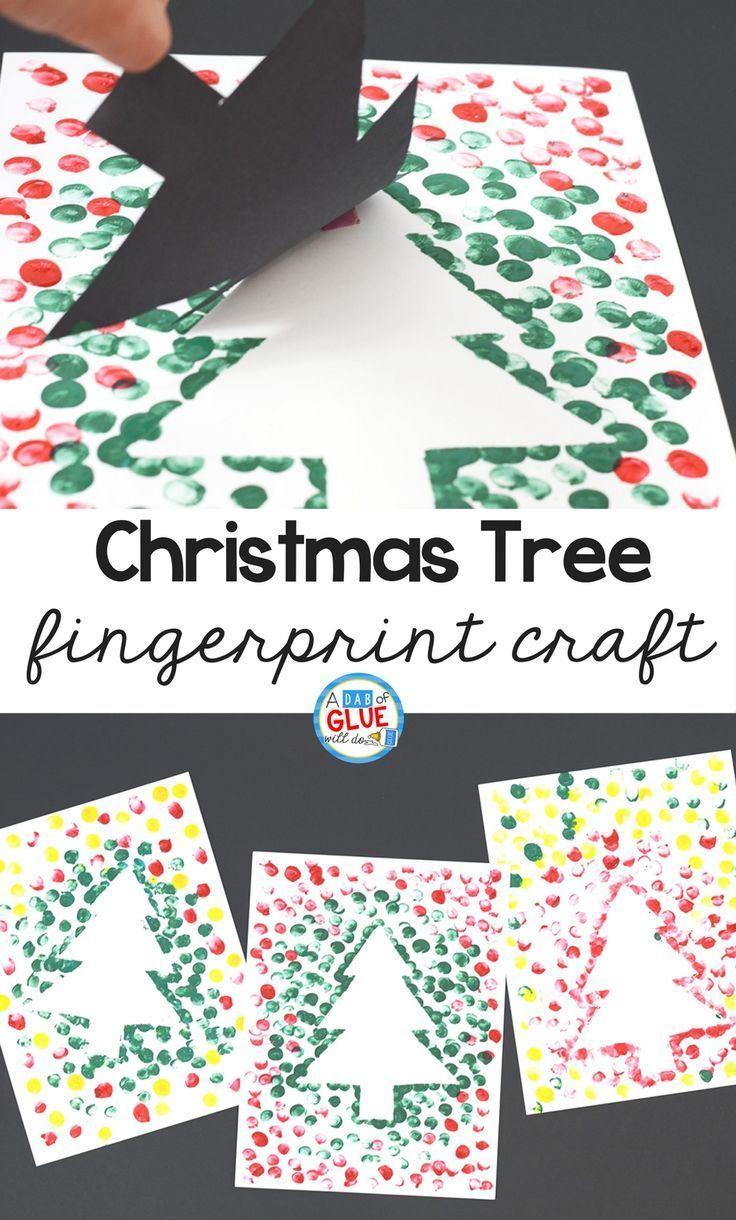 Photo of Christmas Tree Thumbprint Art