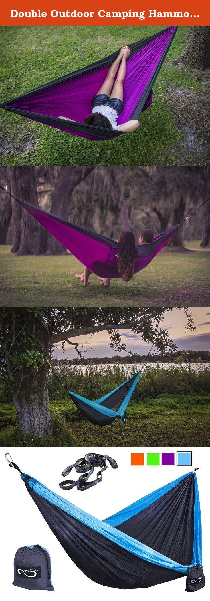 Double outdoor camping hammocks weather resistant lightweight