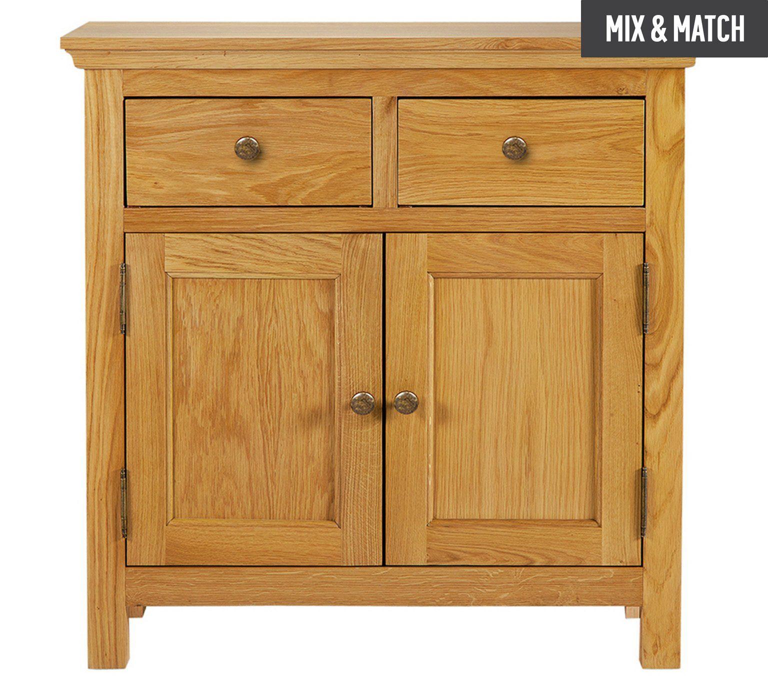 Buy Collection Kingsbury Mini Oak & Oak Veneer Sideboard