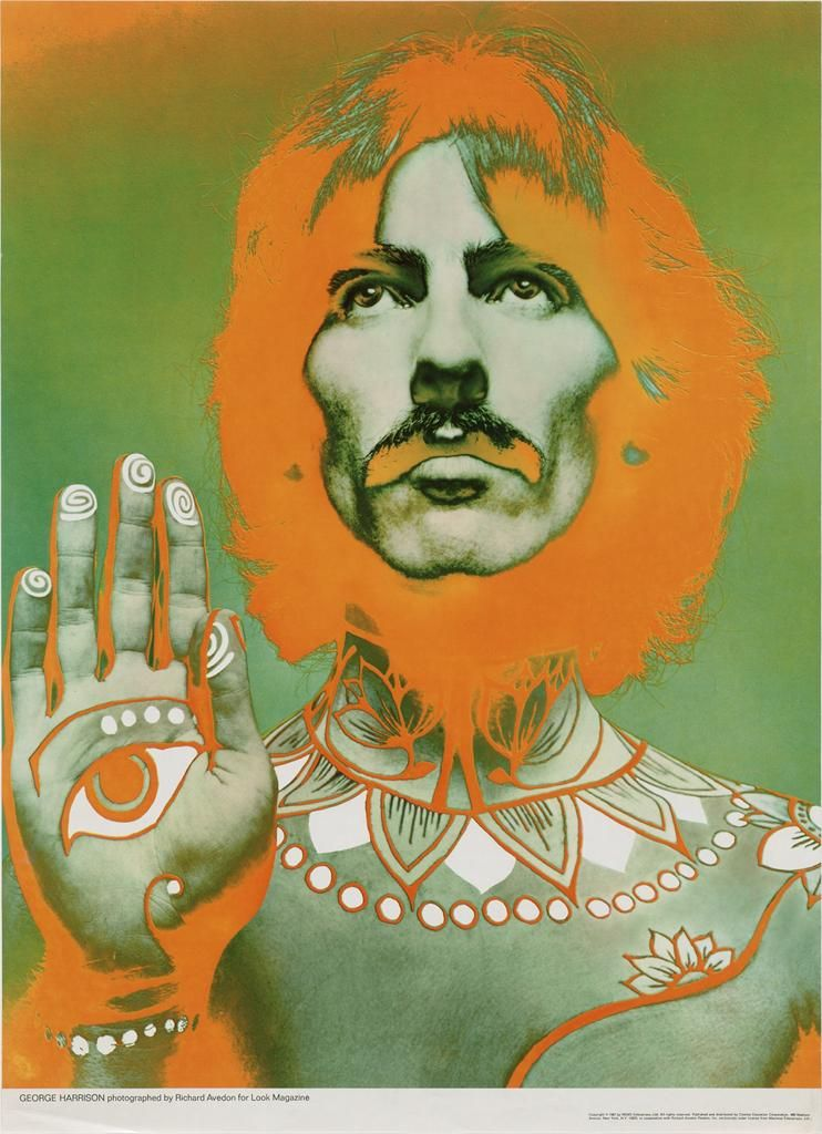 George Harrison by Richard Avedon, 1967  || Lezione
