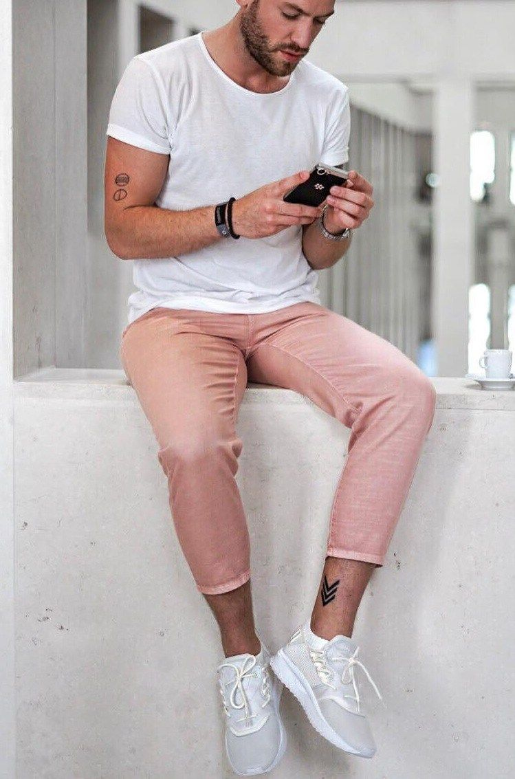 7 Startling Pink Outfits For Men Smart Casual Outfit Mens Fashion Summer Mens Outfits [ 1133 x 749 Pixel ]