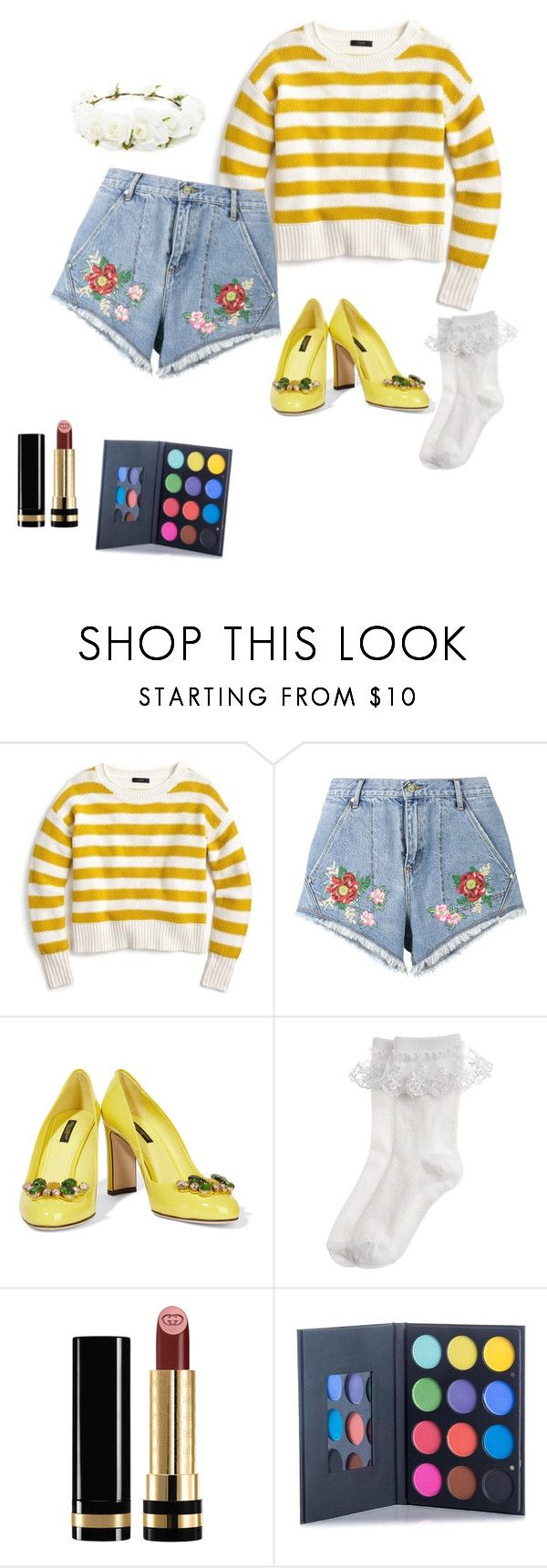 """""""🌈"""" by minngi ❤ liked on Polyvore featuring J.Crew, House of Holland, Dolce&Gabbana, Monsoon, Gucci and Forever 21"""