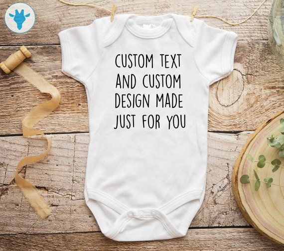Custom Text Baby Bodysuit, Personalized Gift, Personalized Bodysuit, Baby Girl Gift, Boho Baby Clothes, Baby Shower Gift is part of Baby Clothes Boho -