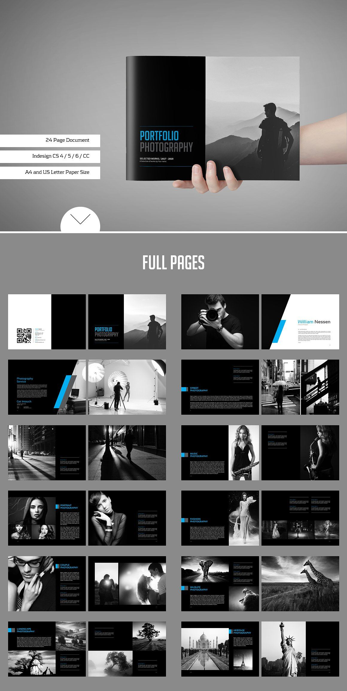 Portfolio / Photobook - Brochures #Photobook #template# lookbook ...