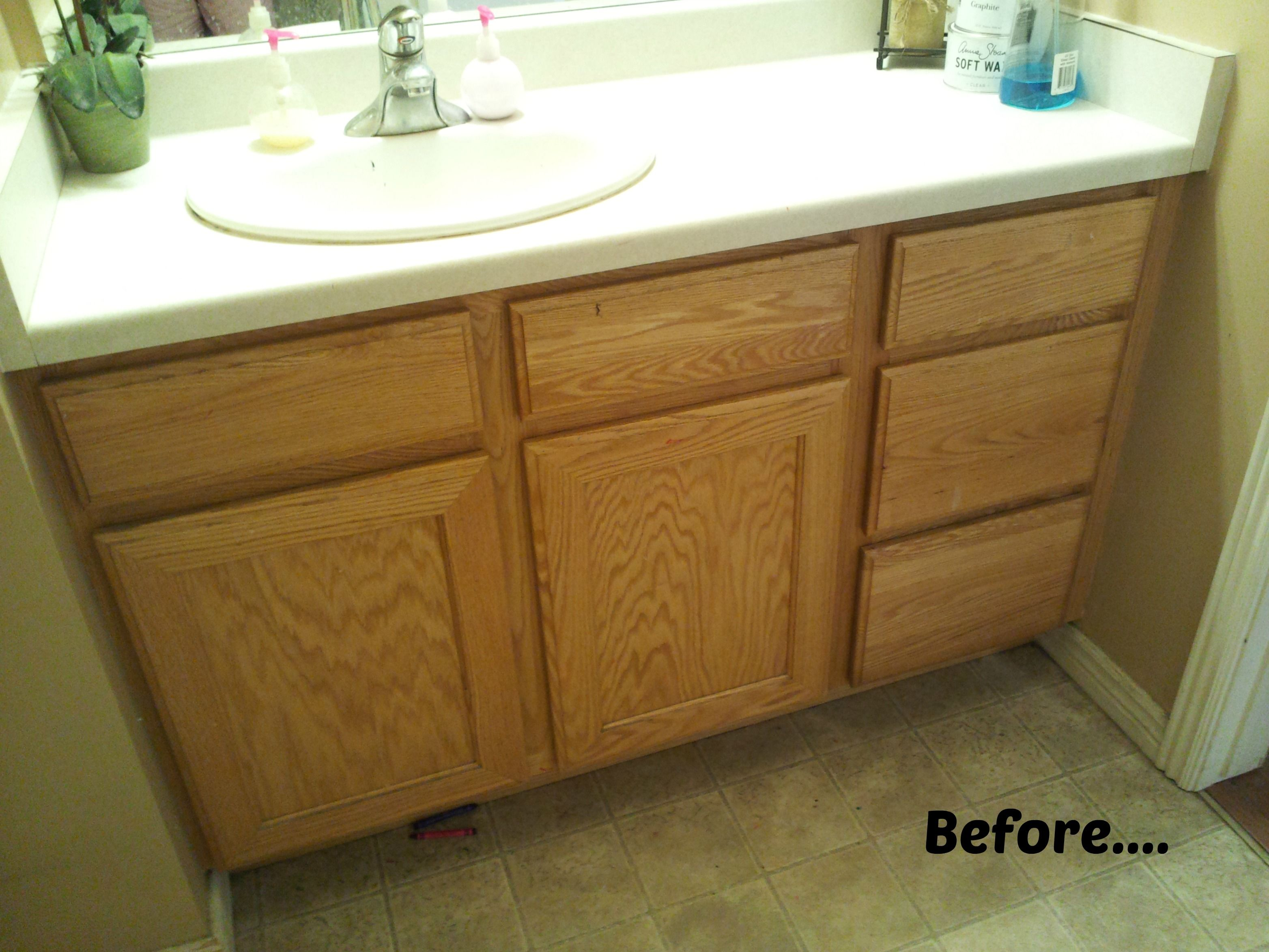 Refinish Bathroom Cabinets Bathroom Vanity Redo Ideas  Pinterdor  Pinterest  Vanity Redo .
