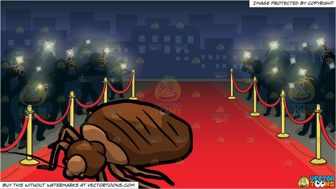 A House Bed Bug and Red Carpet Premiere Background (With