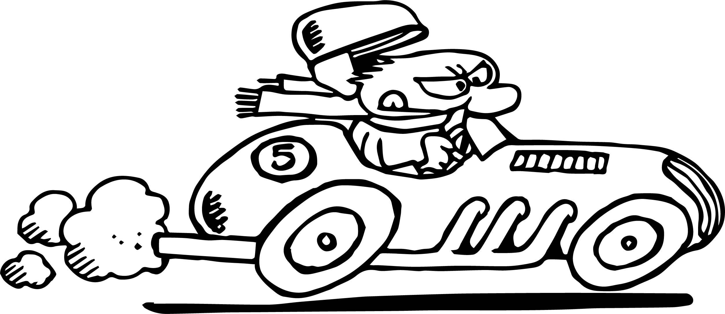 Awesome Old Race Car Cartoon Coloring Page With Images Car