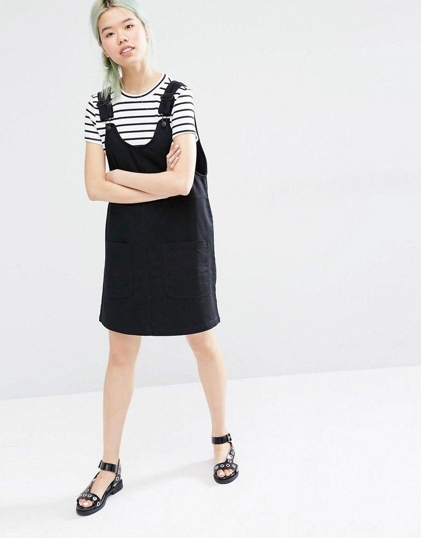 elegant and sturdy package wide varieties affordable price Monki Denim Dungaree Dress | Mine! | Denim overall dress ...