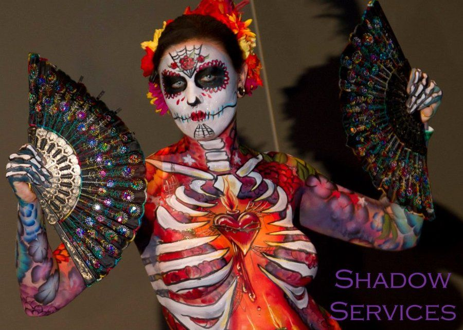 Full Body Sugar Skull by arynthefox on DeviantArt