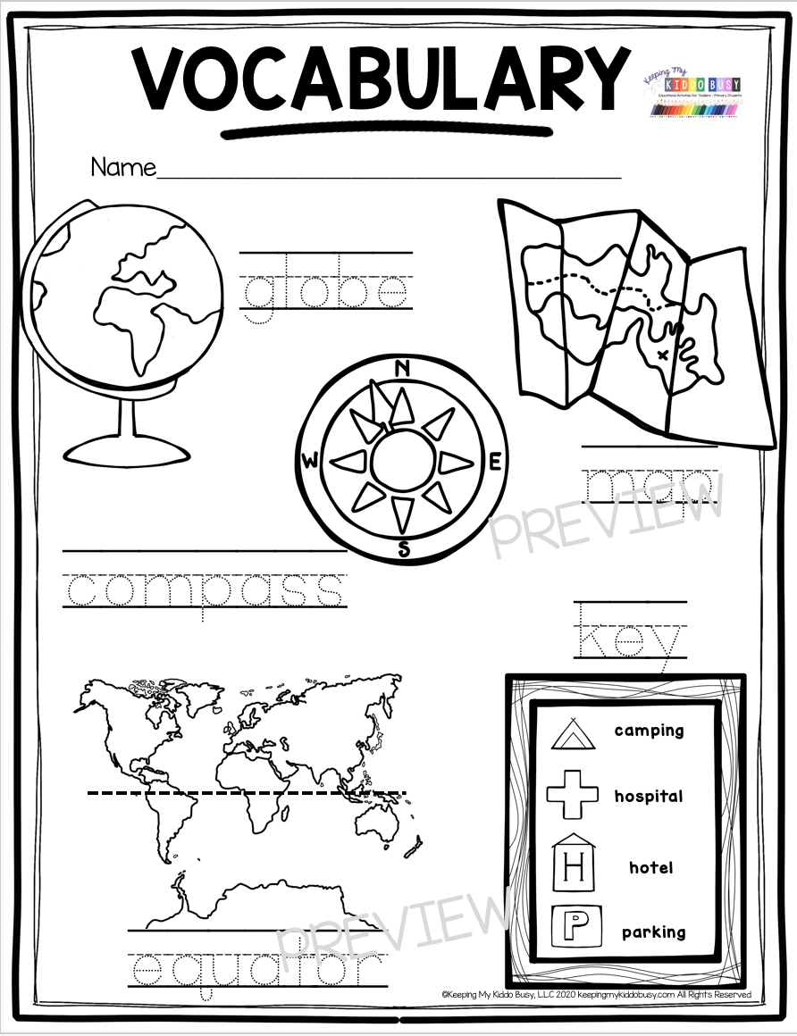 All About Planet Earth - FREE Activities — Keeping My Kiddo Busy    Kindergarten social studies [ 1160 x 892 Pixel ]