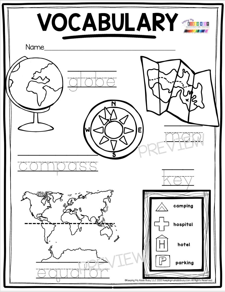 Free Solar System Worksheets For Kindergarten