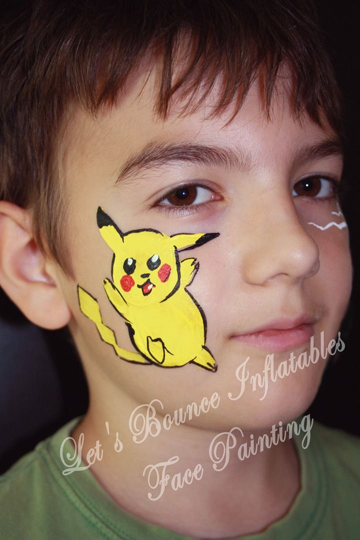 Vancouver Face Painting Lets Bounce Inflatables Pikachu Face Painting Face Painting For Boys Face Painting
