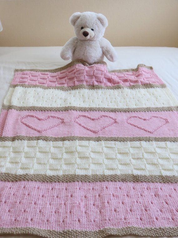 Heart Knitting Patterns Crafts Pinterest Knitted Baby Blankets