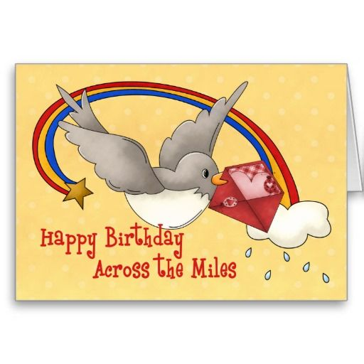 Rainbow bird across the miles card rainbows and birthday greetings rainbow bird across the miles greeting cards m4hsunfo Images