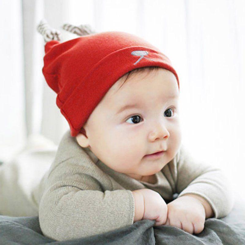 NEW Cute Baby Boy Hat Newborn Cap Infant Aviator Tie Up Cotton Stretchy